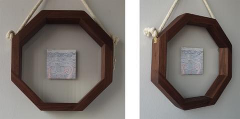 Aperture Frame Double Glaze - American Black Walnut