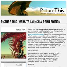 Newsletters & Press Releases: Electronic mailers for one small seed, Picture This and Design Indaba
