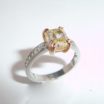 thumbnail for Fancy Yellow Diamond Ring