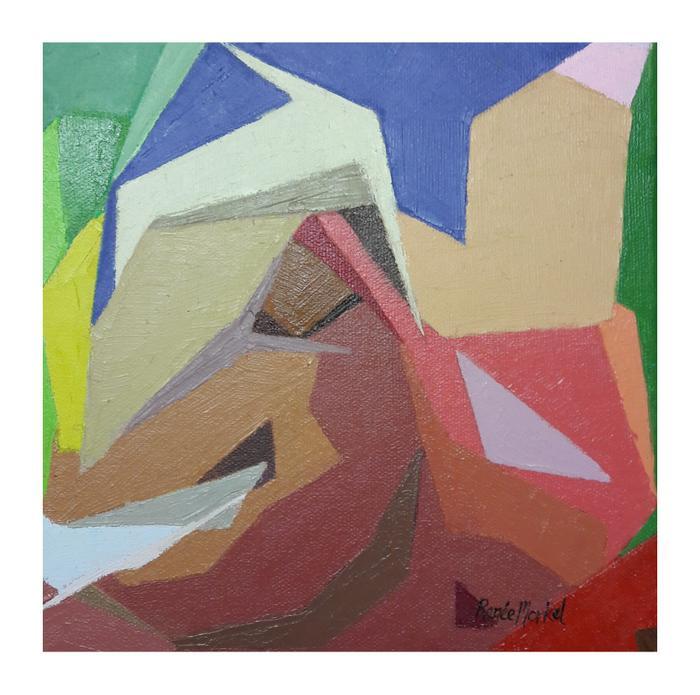 Renée Morkel    L'Escargot  Matisse's snail    Oil on canvas    20 x 20cm    R 950