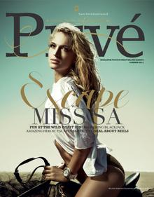 Sun International Prive Magazine 2012 Cover