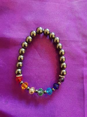 EL06 Chakra with haematite crystal beads