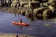 Huenu's daily paddle ...