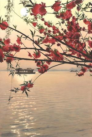 Drummond Murphy  Hangzhou Blossoms       Acrylic on canvas   60 cm  x  90 cm  R5000