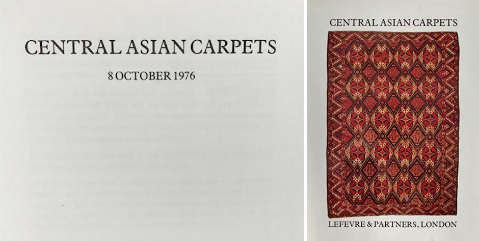 LEFEVRE & PARTNERS: Central Asian Carpets • 1976