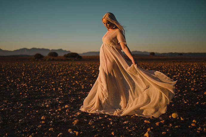 A Fashion Inspired Maternity shoot near Oudtshoorn in the Klein Karoo region of South Africa.